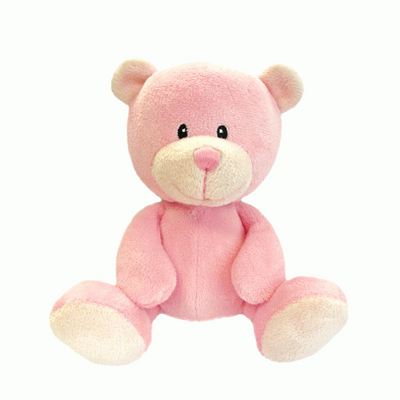 Gorgeous soft pink baby bear by Suki gifts