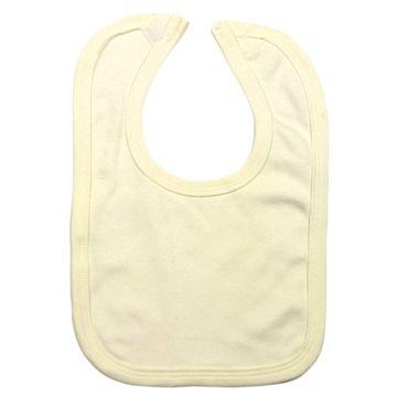 Cream 100% Organic Cotton Unbranded Velcro Bib