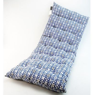 Blue Patterned Bench Cushion (2 Seater)