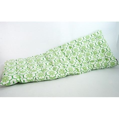 Green Patterned Bench Cushion (2 Seater)
