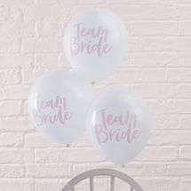 Team Bride Pink Balloons