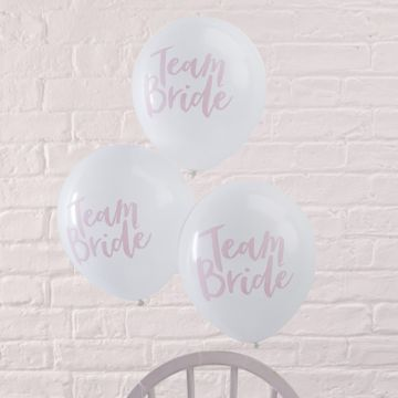 Team Bride Pink Balloons