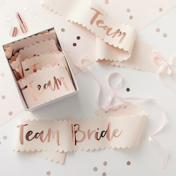 Team Bride Sash - 6 pack