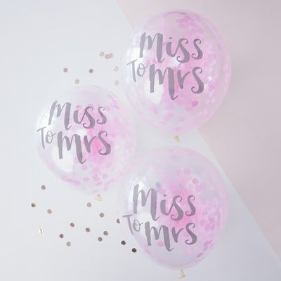 Confetti Miss To Mrs Balloons