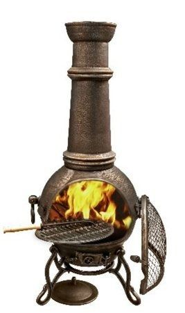 Gardeco Toledo Cast Iron Chimenea - Extra Large Bronze TOLEDO129-BR