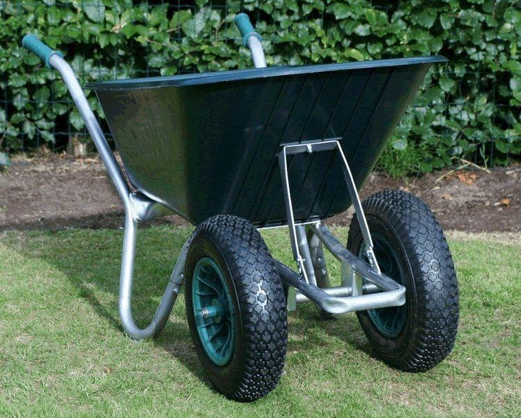 Maingate Twin Wheeled County Cruiser Compact Garden Wheelbarrow Green