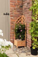 Gardman Wooden Corner Trellis  Planter 1.1m 00880