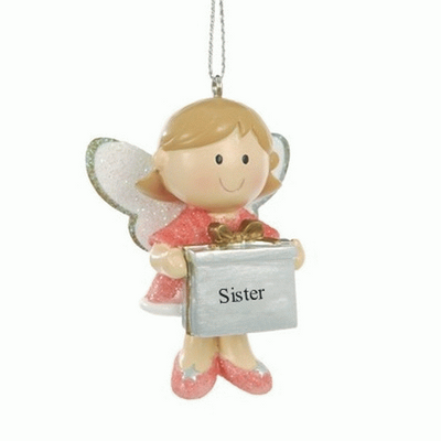 Fairy personalised Christmas tree decoration -