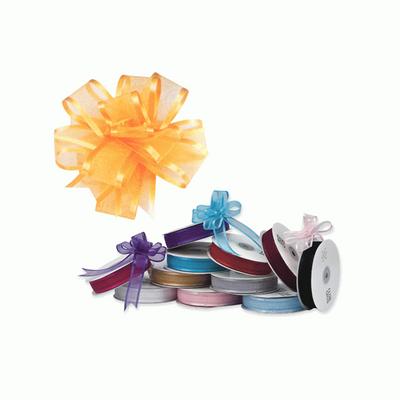Blue Organza Pull bow ribbon 23mm