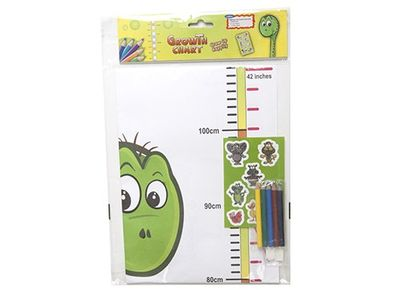 Make your own growth chart - inc colour pencils