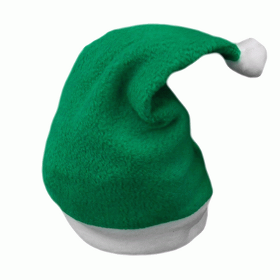 Green baby santa/elf hat ideal for personalisation 6-12m