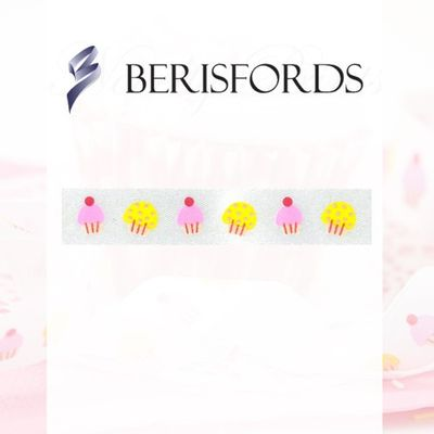 Cupcakes patterned ribbon 15mm x 20m by Berisfords