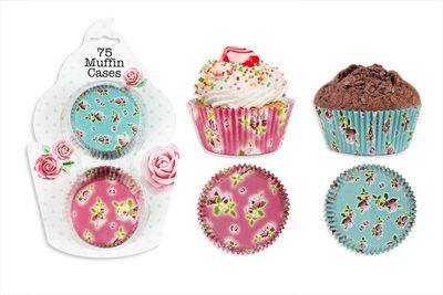 Fab Printed Cupcake / Muffin Cases Pack of 75
