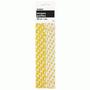 Yellow Polka Dot Strong Paper Straws - pk 10