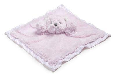 Suki Baby - Hug-a-Boo Bear Finger Puppet Comforter Pink
