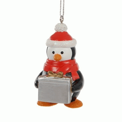Penguin personalised Christmas tree decoration -