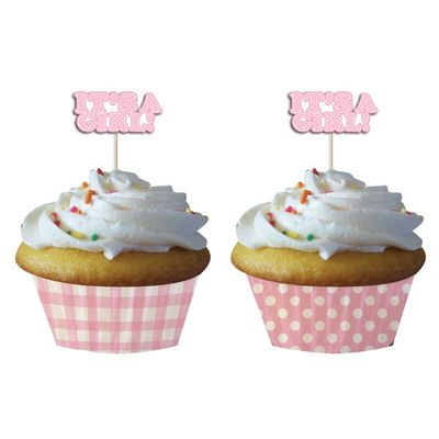 Its a Girl! - Cupcake cases with picks pk12