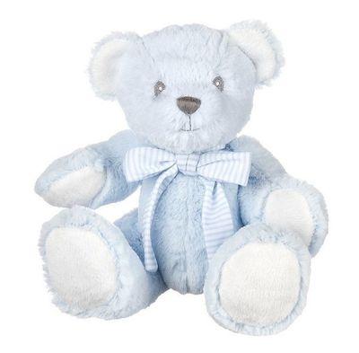 Suki Baby - Hug-a-Boo Bear Small Blue with Rattle