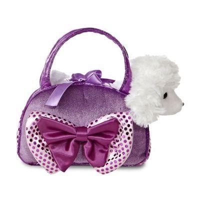 Fancy Pal Poodle Purple W/bow 8inch