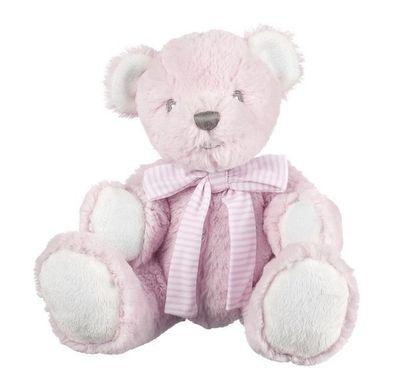 Suki Baby - Hug-a-Boo Bear Small Pink with Rattle
