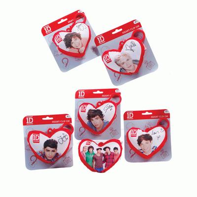 One Direction plush heart bag clip