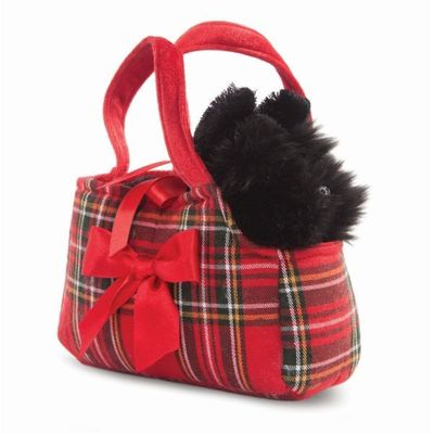 Fancy Pal Scottie In Tartan Bag 8inch