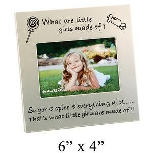 Juliana Aluminium Photo Frame What Little Girls ... 6 inch x4 inch