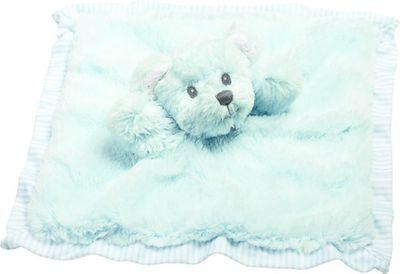 Suki Baby - Hug-a-Boo Bear Finger Puppet Comforter Blue
