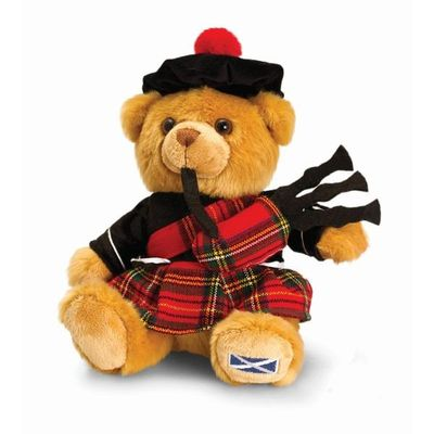 Gorgeous Highland Bear with Tartan Bonnet 25cm  by Keel Toys