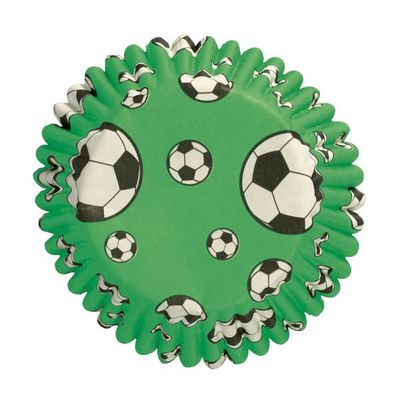 Football patterned cupcake Baking cases - pk54