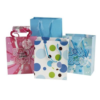 Medium 3pk gift bag in Boy/Girl designs