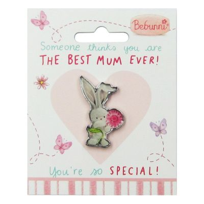 Pack of 3 Bebunni Metal/Epoxy Pin Badges - Mum