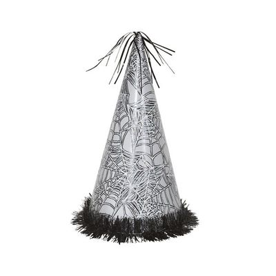 Silver Spider Web Jumbo Halloween Party Hat