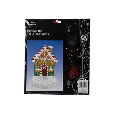 Honeycomb Look Paper Candy Christmas House