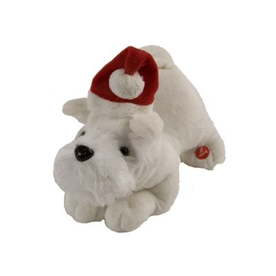 Barking Scottie Dog With Moving Ears & Tail 25cm