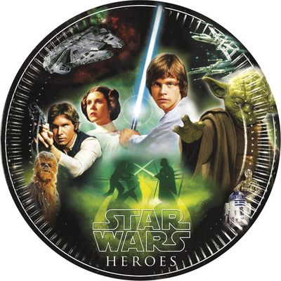 Star Wars Heroes 23cm Party Plate - pk8