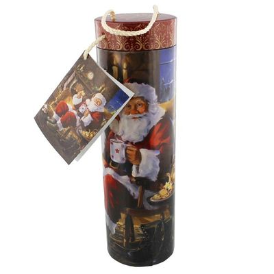 Tri-Coastal Design Old Time Santa Wine Bottle Rigid Gift Holder