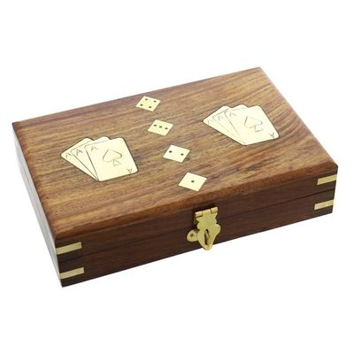 Harvey Makin Wooden Games Set  - Cards with Dice