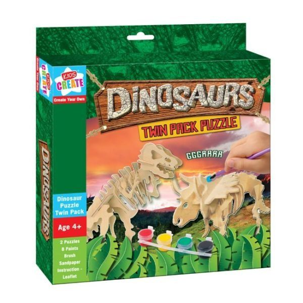 Dinosaurs Wooden Puzzles - Twin Pack