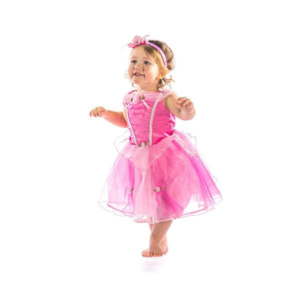 Sleeping Beauty - Princess Dress With Bloomers & Headband 3-6 Months