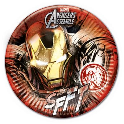 Marvels Avengers - Iron Man 23cm Party Plate - pack of 8