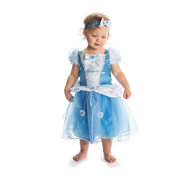 Cinderella - Princess Dress With Bloomers & Headband 3-6 Months