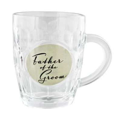 Amore by Juliana Glass Pint Tankard - Father of the Groom