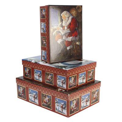 Tri-Coastal Design Old Time Santa Set of 3 Sweater Boxes