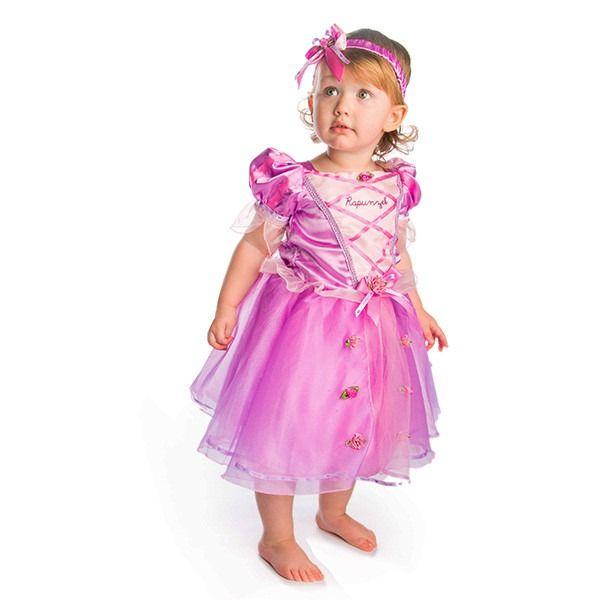 Rapunzel - Princess Dress With Bloomers & Headband 12-18 Months