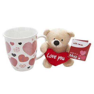 Love Plush Bear In 14oz Mug