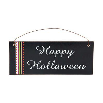 6 Designs Halloween MDF Black Wall Plaque.