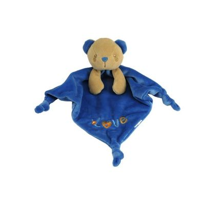 Plush Salomon Bear Comforter by  Les Bebes D
