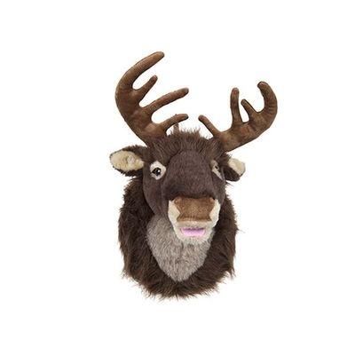 16inch Singing Plush Reindeer Head Wall Decoration