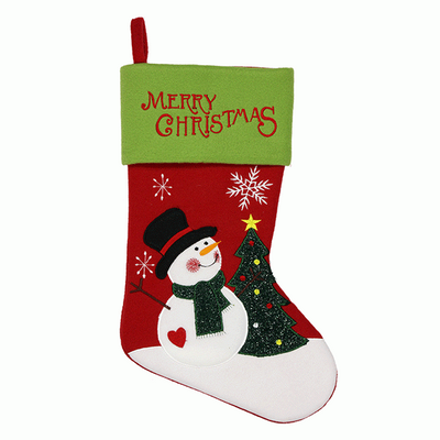 Merry Christmas Snowman Stocking